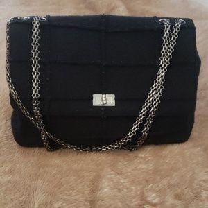 Chanel 225 jumbo wool bag